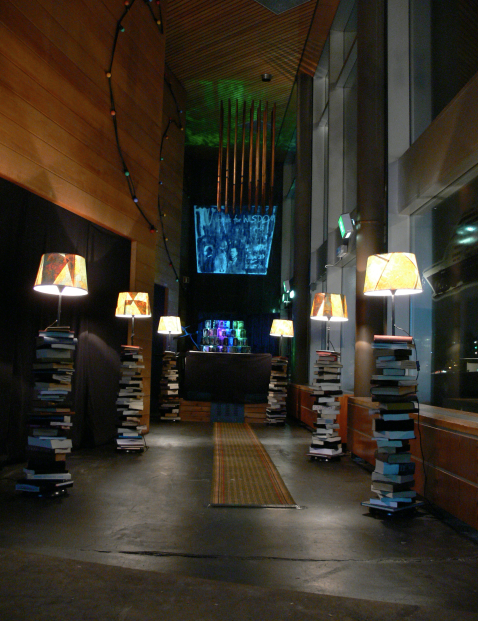 Exhibition view Library of Light 2013 - first edition - Amsterdam Noord